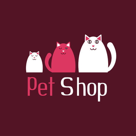 Cat sign for pet shop