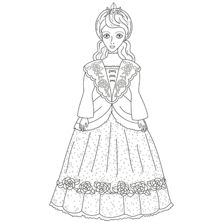 illustration of princess in ancient dress