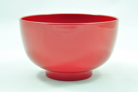 lacquer ware: Japanese Plain Red Bowl
