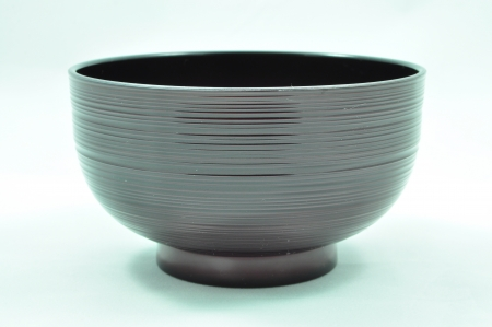 lacquer ware: Japanese Black Veined Bowl