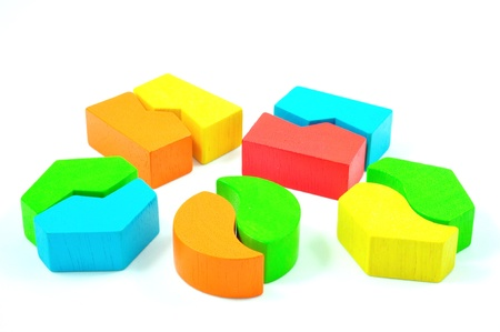 Matching Blocks isolated on White Background photo