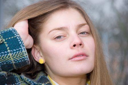 lyrical: YOUNG BEAUTIFUL AND ATTRACTIVE WOMAN LOOKING AT CAMERA