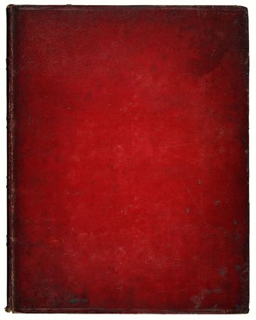 red leather texture: Image of an old leather book cover. Leather, with marks and scratches etc. Clipping included. Stock Photo