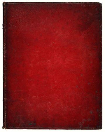 copertine libri: Immagine di una vecchia copertina di pelle. In pelle, con segni e graffi ecc Moschettonaggio percorso incluso. Archivio Fotografico