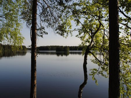 beatiful: Beatiful lake view on a sunny day in summer of Finland.