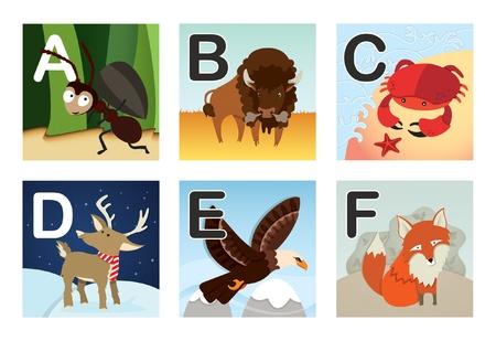 Animal alphabet Иллюстрация