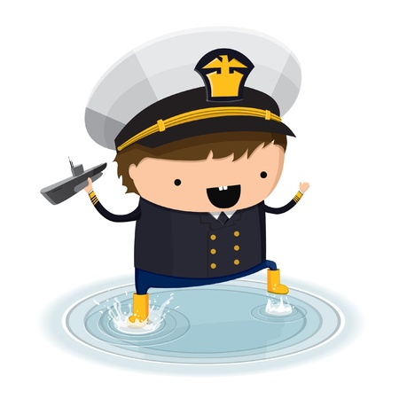 A boy dressed up like a sign of zodiac. Aquarius. Stock Vector - 11973149