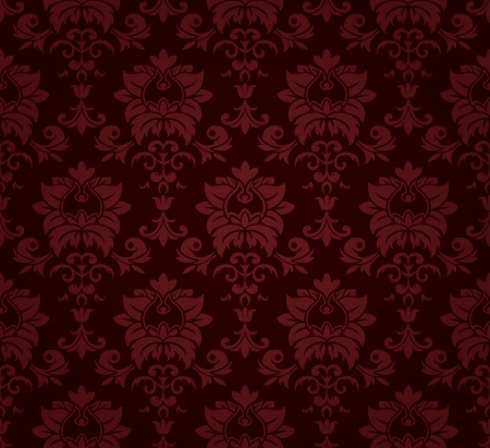 victorian wallpaper: Seamless floral pattern.  Illustration