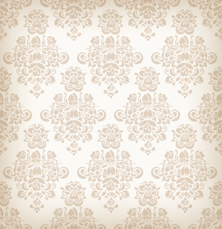 Seamless floral retro pattern. Vector