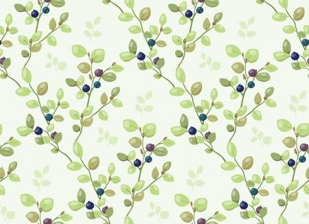 Fliesen-Muster mit Heidelbeeren