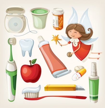 item: Set of items for keeping your teeth healthy
