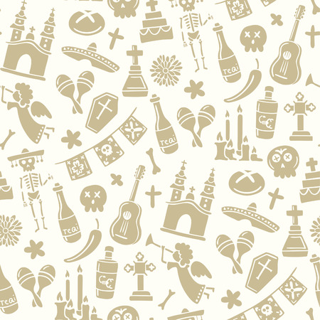 Seamless pattern for day of the dead Stok Fotoğraf - 23284862