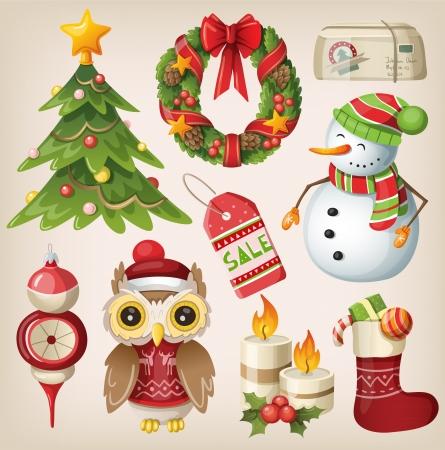 크리스마스 항목 및 문자 집합
