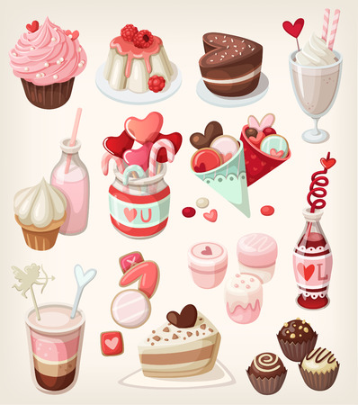 Colorful food for love related occasions: Valentines day, romantic date, wedding