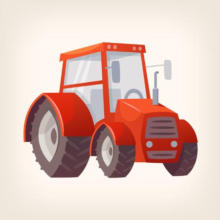 botanical gardens: Agricultural farming machine Illustration