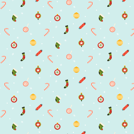 Christmas pattern for holiday wrapping paper.