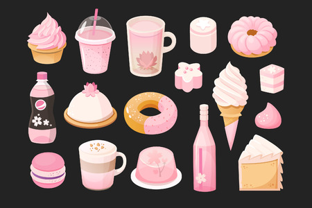 Foods that you can meet in pink color.