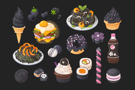 Foods that you can meet in black color.
