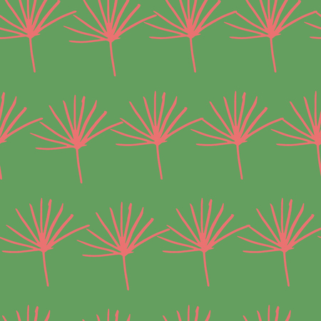 green red jungle fern leave seamless pattern design background. Perfect for textile, fabric design and wallpaper