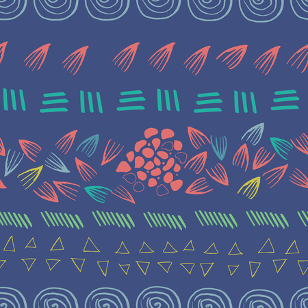 abstract aztec purple seamless print design background. perfect for background and wallpaper. Stock Illustratie