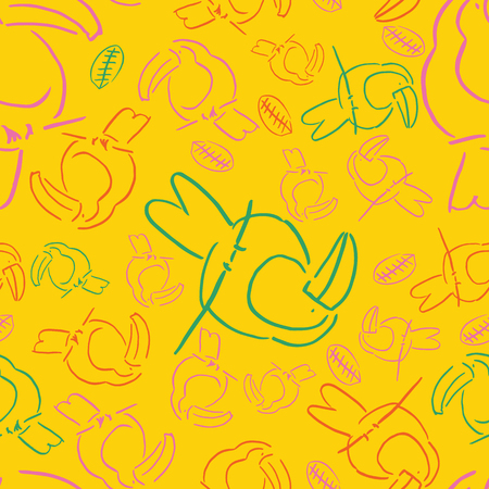 yellow line tucan bird background seamless pattern. perfect for background, wallpaper, texture or surface pattern design.