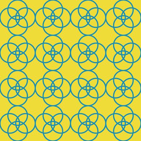 geometric circles repeat pattern design. perfect for textile design Ilustração