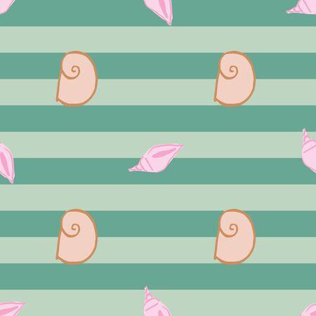 sea shells seamless pattern design. perfect for textile design Ilustração