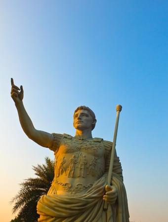 Greek statue -  success  Stock Photo