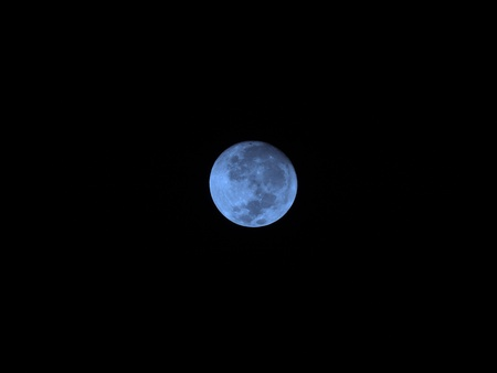 Full blue moon - Superzoom  Stock Photo