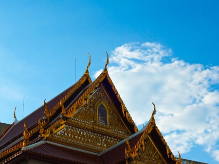 Temple roof - Wut patum at central of Bangkok , Thailand