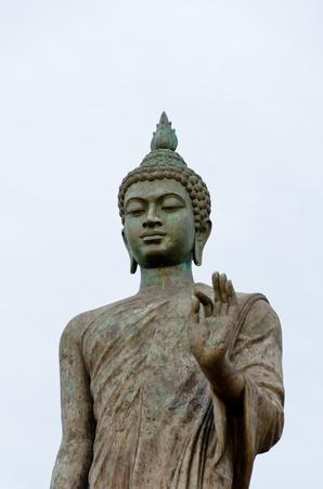 Main buddhist statue at Buddhamonthon  half size portrait  - Thailand