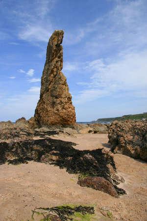 Whale Fin Rock at Cullen Bay, Aberdeenshire, Scotland
