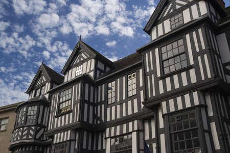 tudor: A tudor style building in Shrewsbury, England