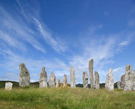 briton: Sunlit Standing Stones at Callanish, Lewis, Western Isles, Scotland