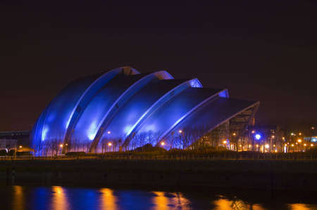 concert hall: Glasgows so-called Armadillo building at night time