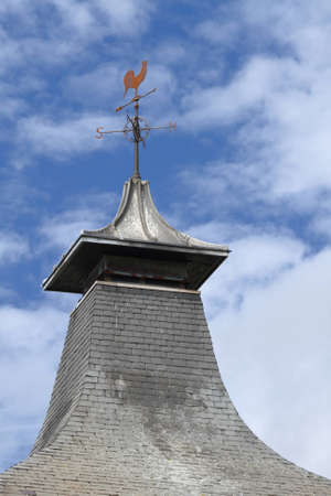 ventilated: Ventilated pagoda roof from a scottish whisky distillery
