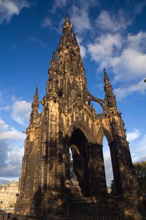 princes street: The Walter Scott monument in Princes Street, Edinburgh Stock Photo