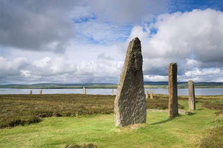 neolithic: Una parte de las Islas Orcadas del sitio neol�tico, el Ring of Brodgar