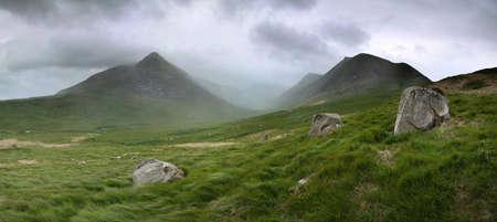 Glen Sannox in Arran in dramatic cloud and rain photo