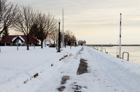 marquette: winter in the upper peninsula michigan