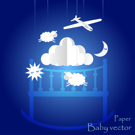 Childrens mobile for baby boy