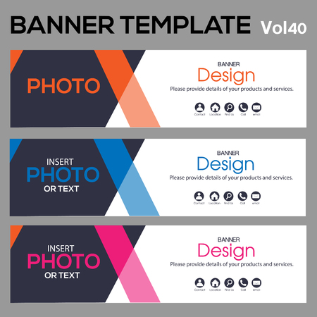 banner Template for web design and Business. Stock Illustratie