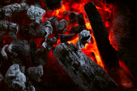 The texture of the dying coals in the fire Stock Photo - 17922979