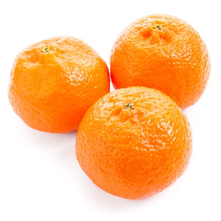 Three mandarin isolated on a white background, a triangle Stock Photo - 17918043