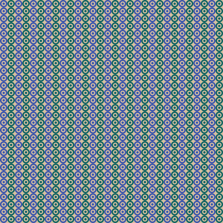 Seamless abstract pattern of circles and dots.blue and green background. vector