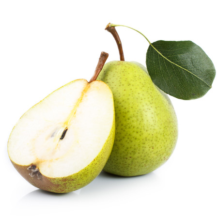 Pear on white background, cut. Stock Photo