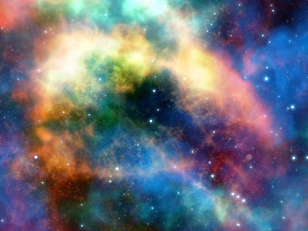 space, nebula and clouds Stock Photo - 14652912
