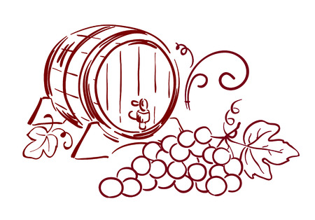 wine barrels Illustration