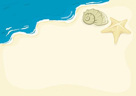 seestern: Vorlage - wie ich meinen Urlaub verbracht Illustration