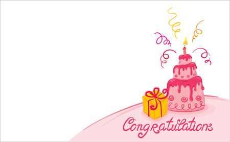 1st birthday: Pink cake